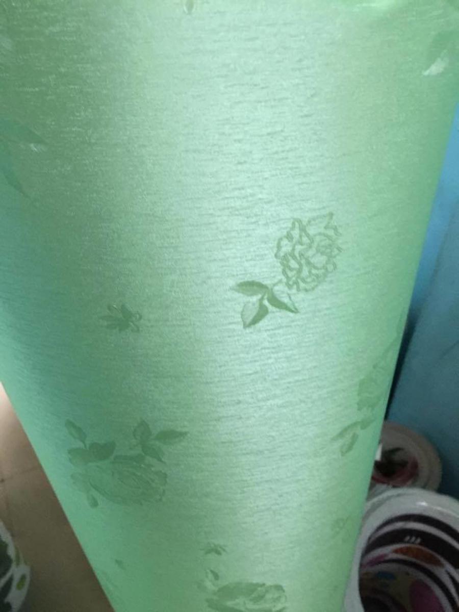 Giấy decal cuộn hoa hồng xanh lá(858)