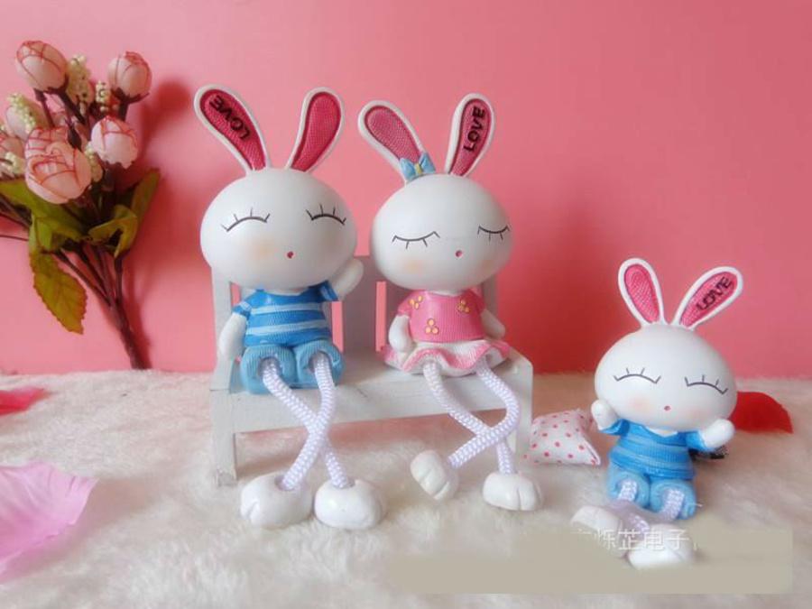 Búp bê gia đình thỏ 3 con