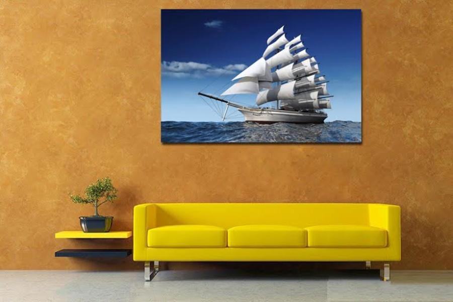 Tranh treo tường Thuyền buồm 1 tấm