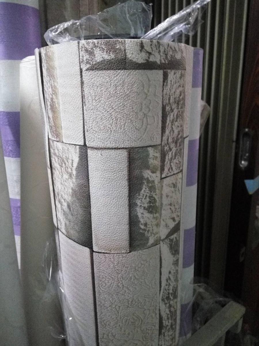 Giấy decal cuộn giả gạch nâu 3