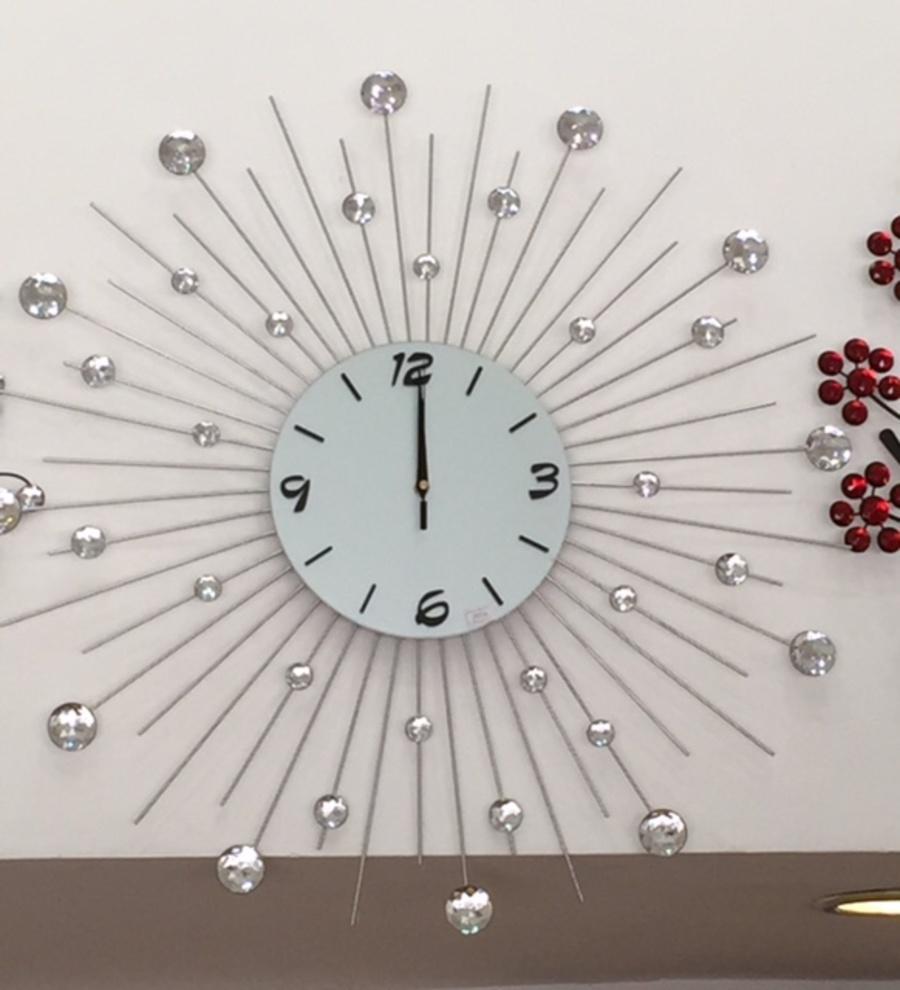 Đồng hồ treo tường đính đá 09