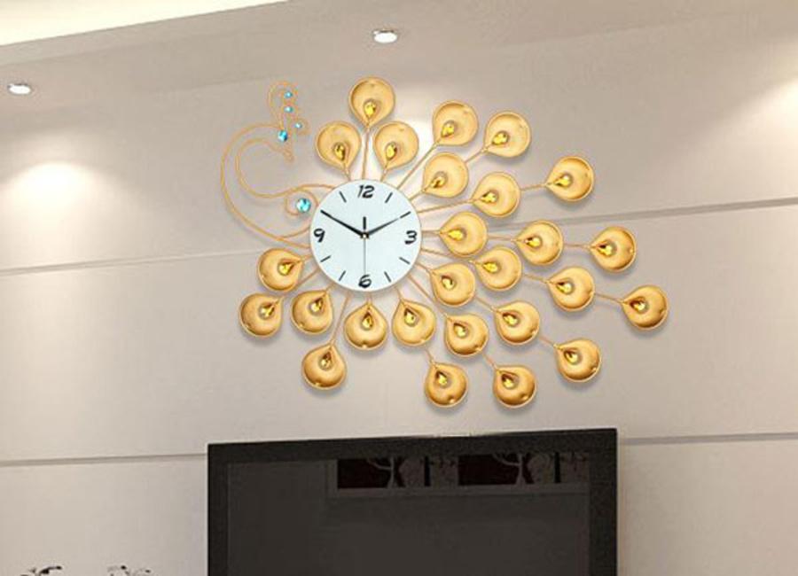 Đồng hồ treo tường chim công 02 (CH)