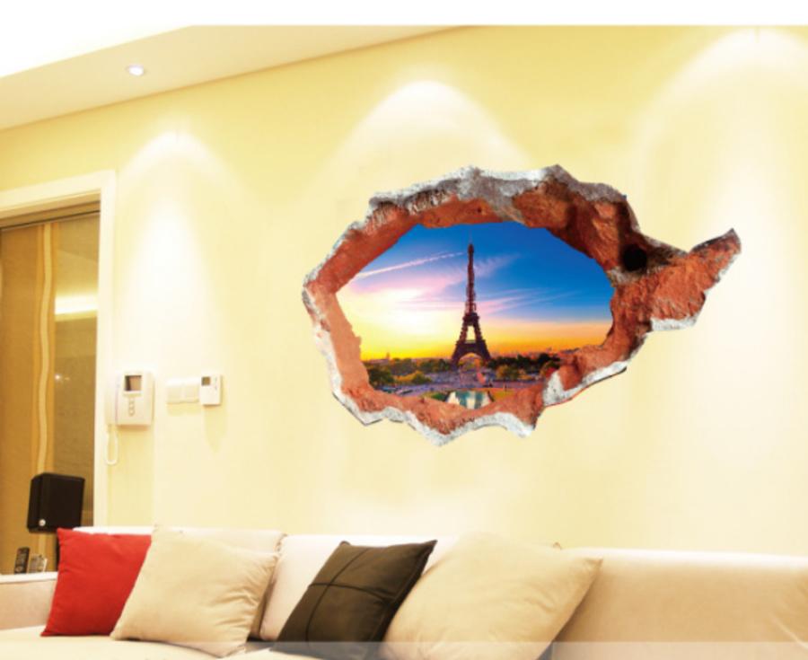 Decal hiệu ứng 3D tháp Paris