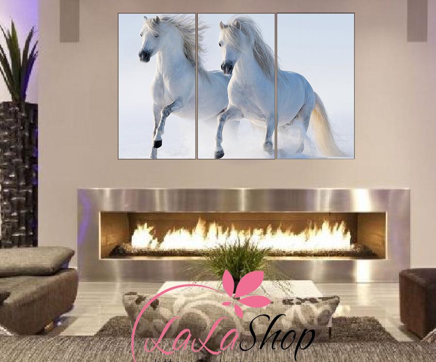 Tranh treo tường đôi ngựa