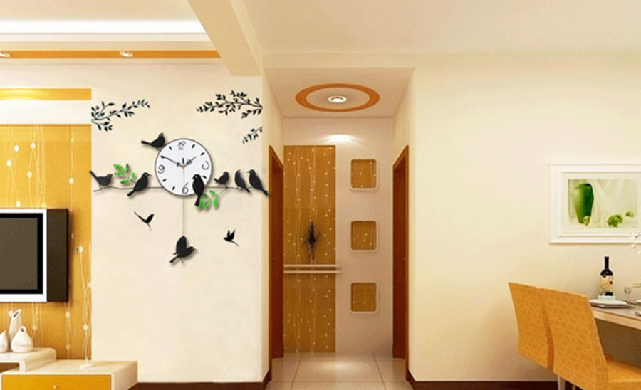 Đồng hồ treo tường đàn chim