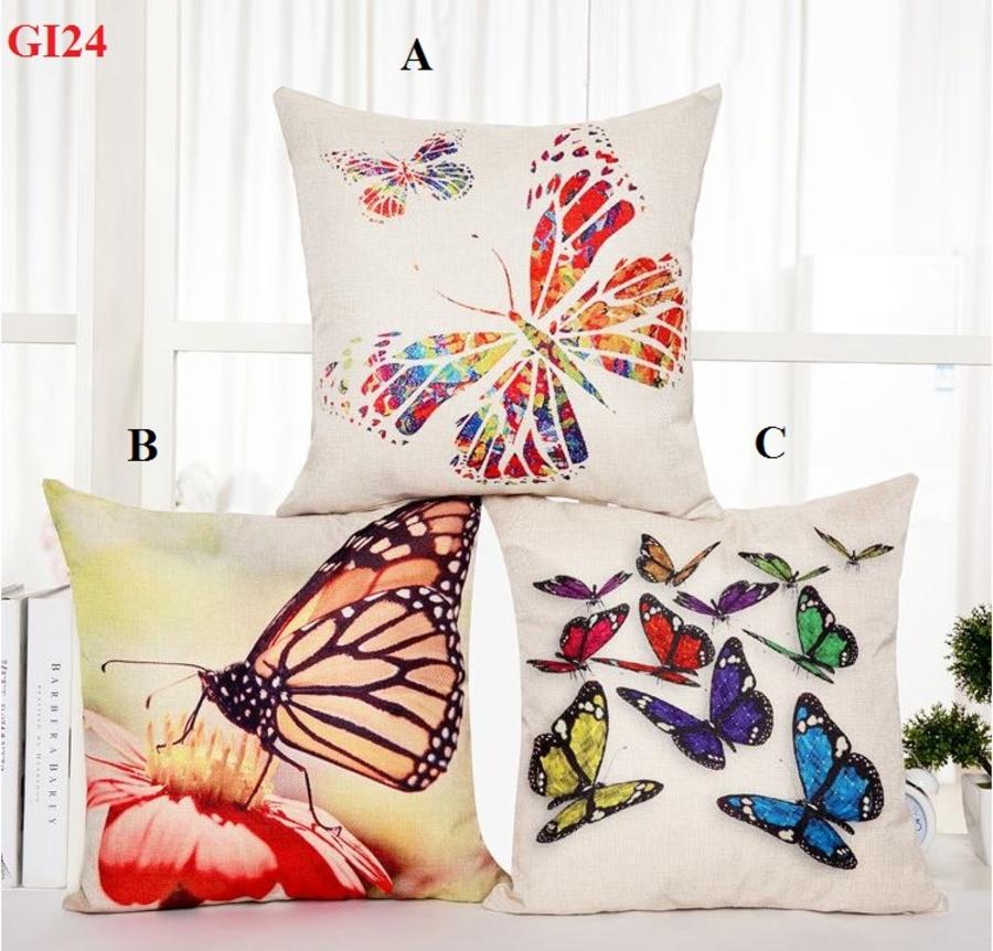 Vỏ gối bộ sưu tập bướm