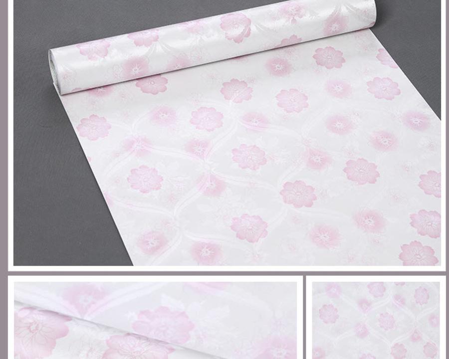 Giấy decal cuộn hoa 5 cánh hồng 2
