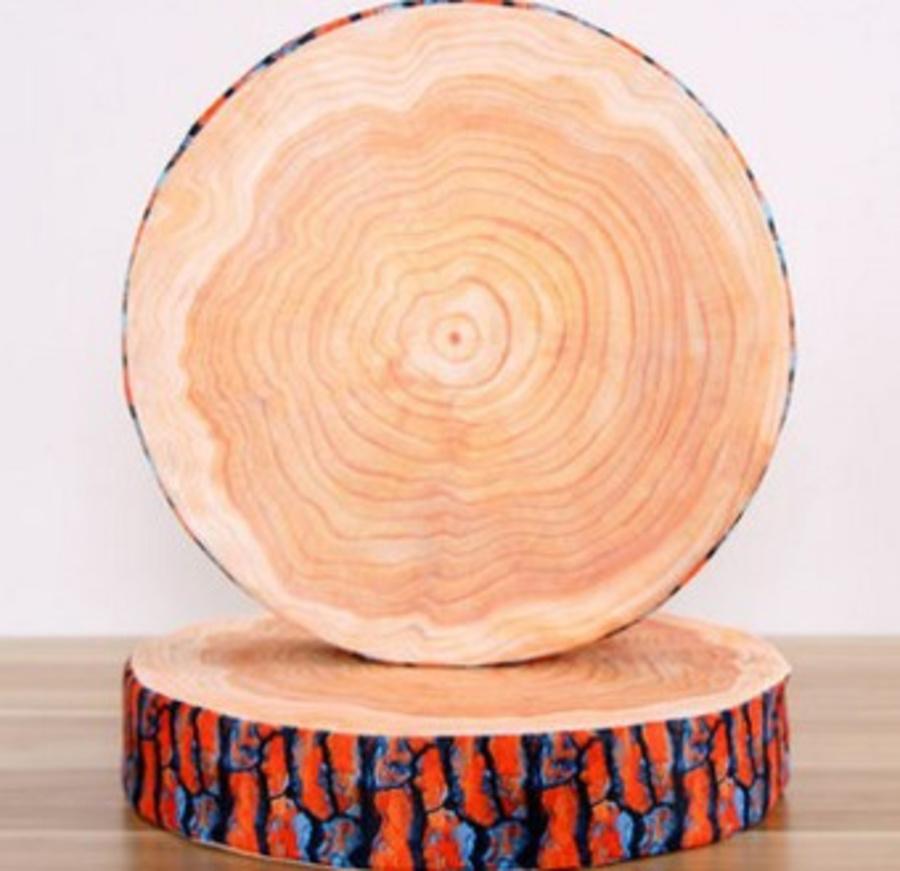 Gối 3D gỗ cây trắng