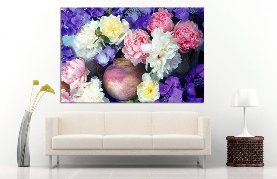 Tranh treo tường bình hoa nghệ thuật