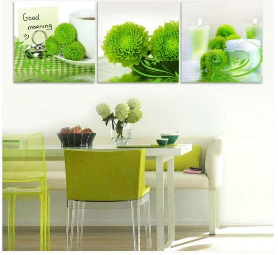 Tranh treo tường hoa cúc xanh