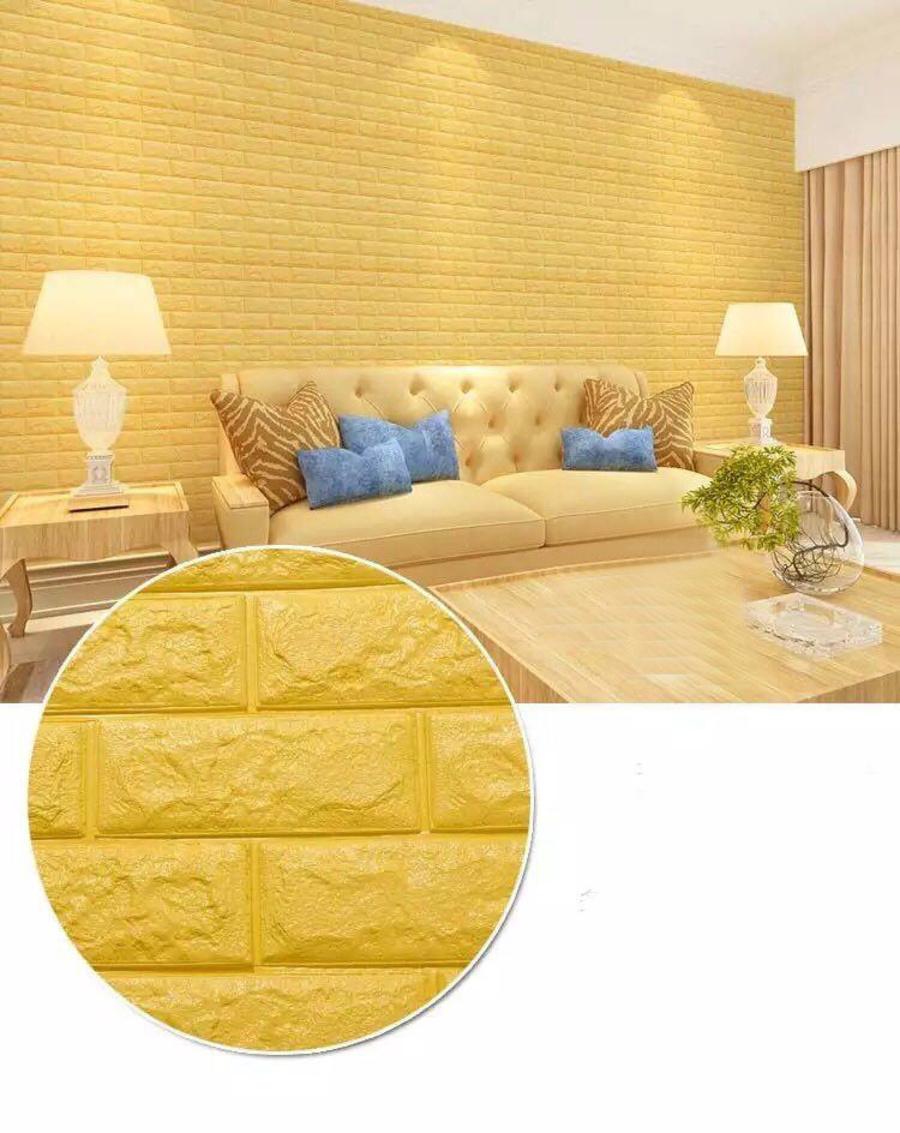 Xốp đá màu vàng