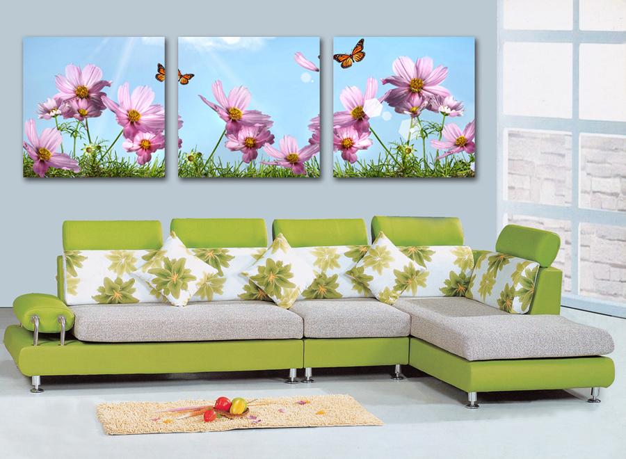 Tranh treo tường vườn hoa cánh bướm