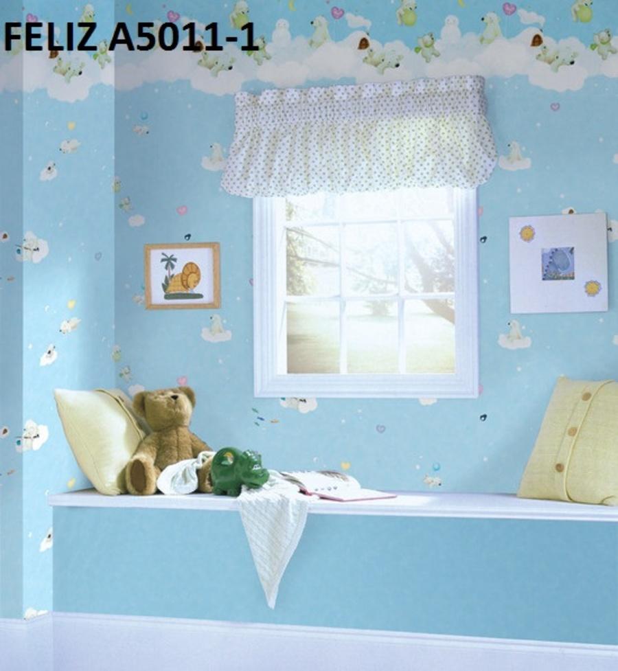 Giấy dán tường gấu trên mây A5011-1