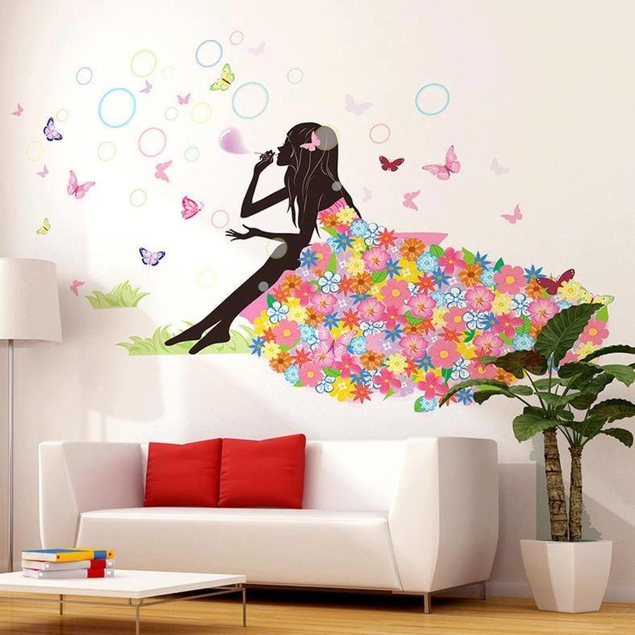 Cô gái hoa và bong bóng