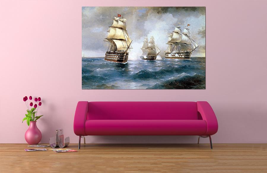Tranh treo tường thuyền buồm nghệ thuật