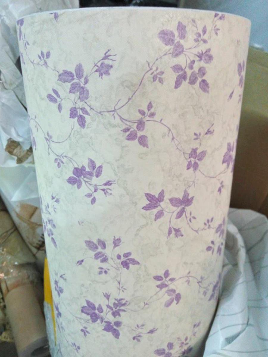 Giấy decal cuộn  dây leo hoa tím 3