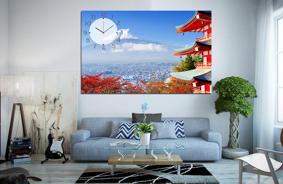 Tranh đồng hồ núi Phú Sĩ