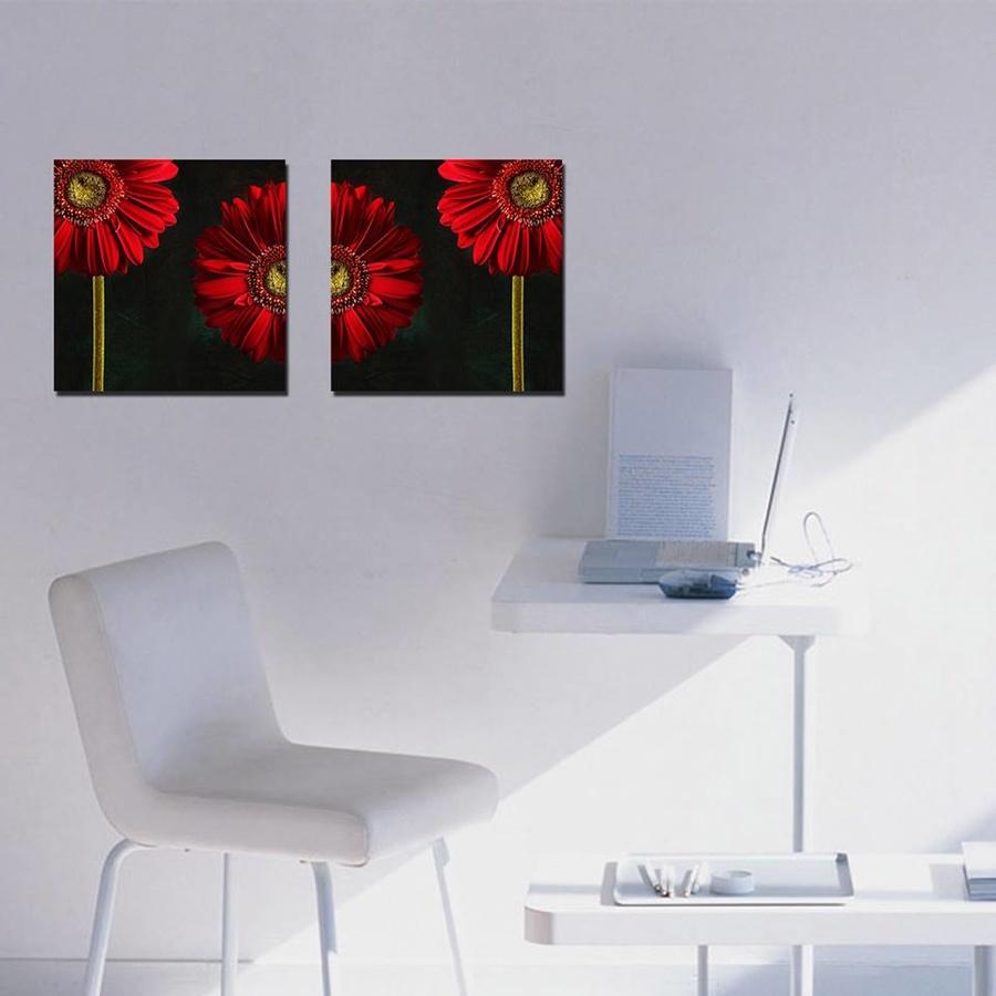 Tranh treo tường hoa cúc đồng tiền đỏ