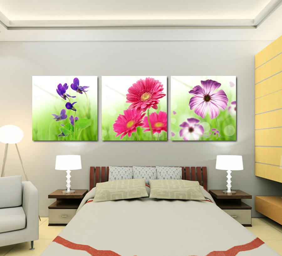Tranh treo tường  hoa 3 sắc