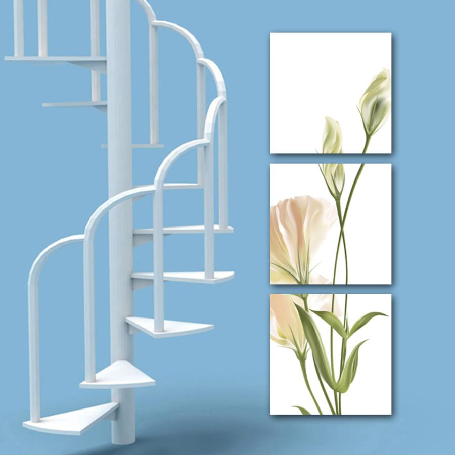 Tranh hoa anh thảo trắng 2