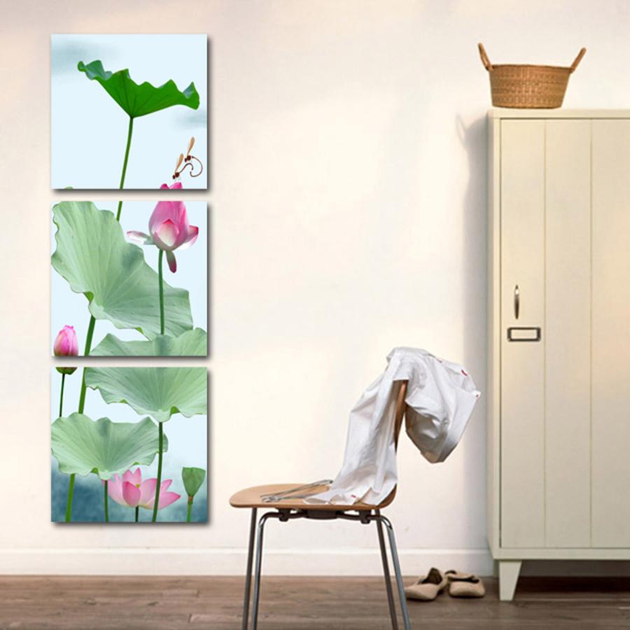 Tranh treo tường hoa sen hồng 2