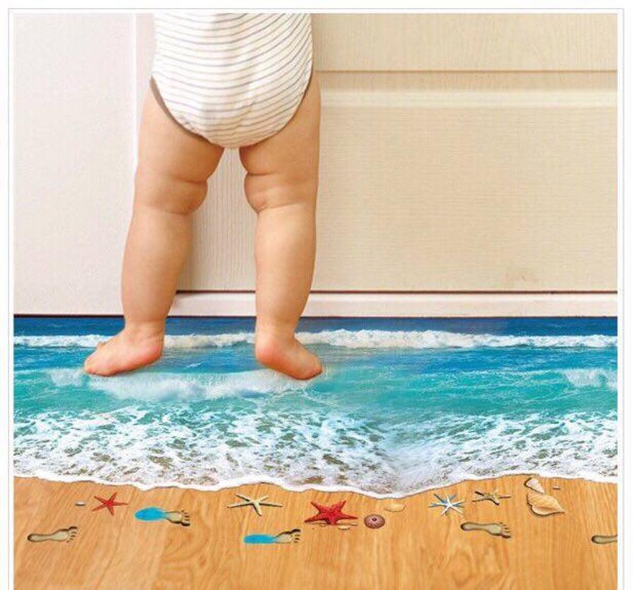 Decal bãi biển 3D