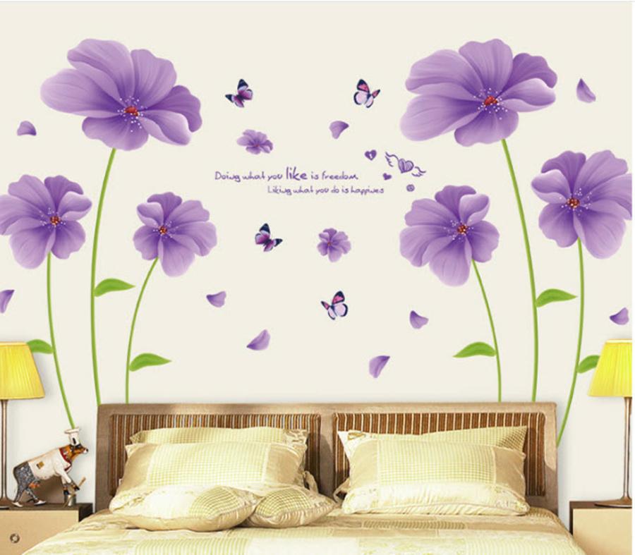 Decal dán tường phòng khách và phòng ngủ