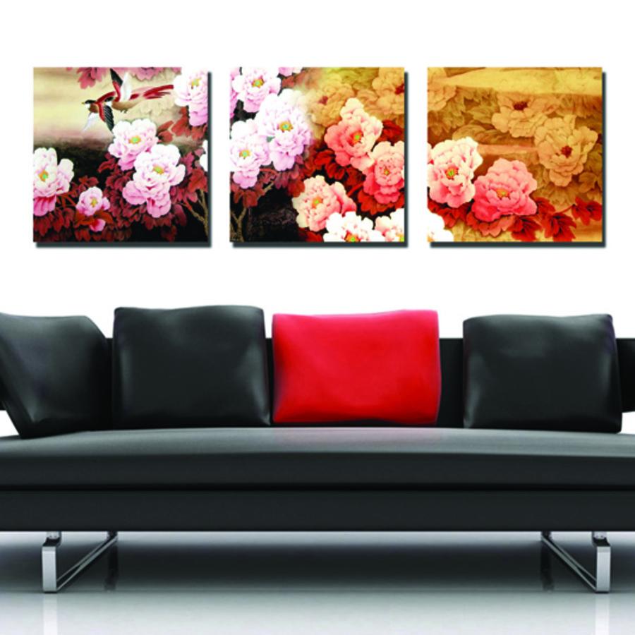 Tranh treo tường hoa mẫu đơn hồng