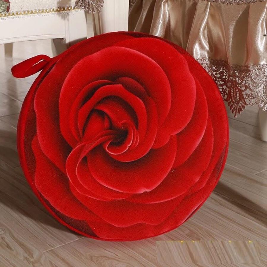 Gối 3D hoa hồng đỏ