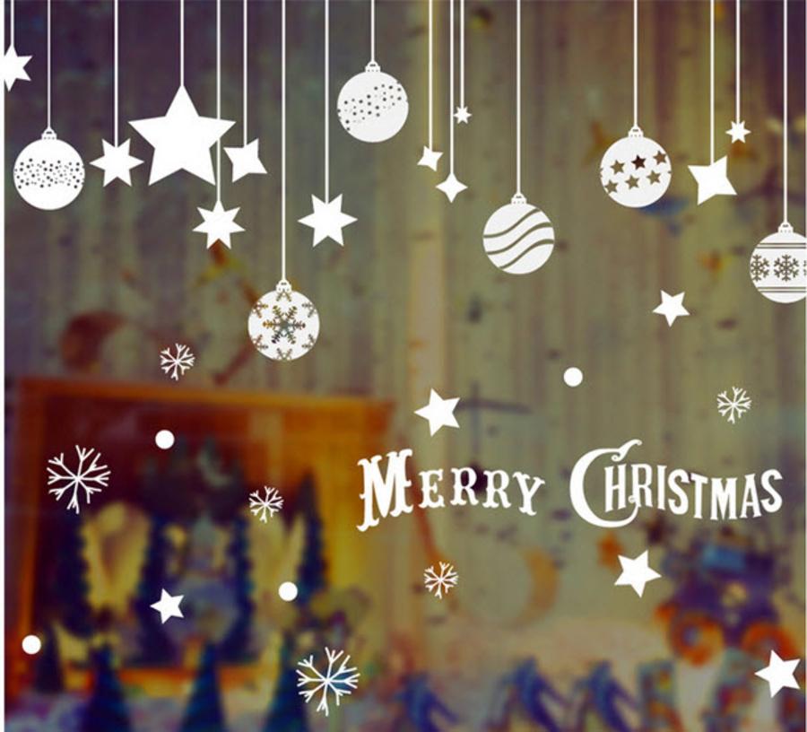 Dây treo quả cầu Noel và sao 5 cánh
