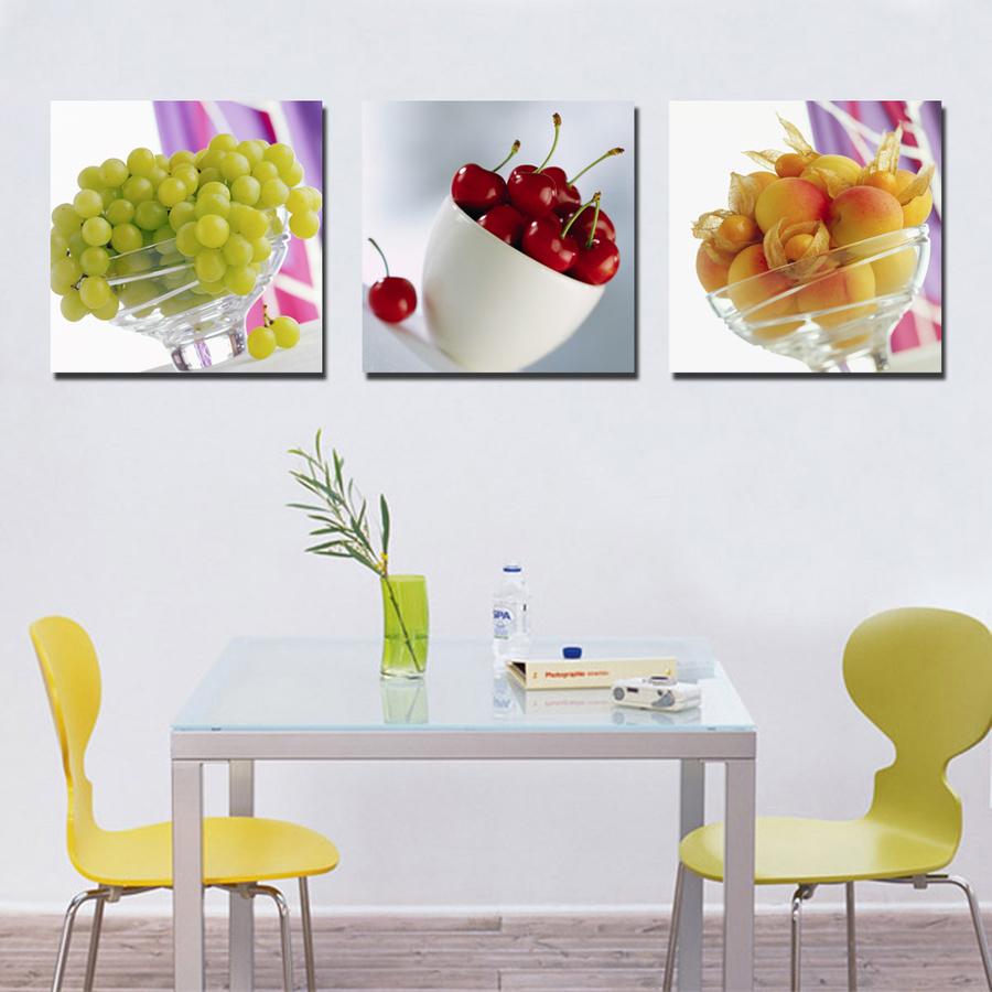 Tranh treo tường bộ 3 loại trái cây