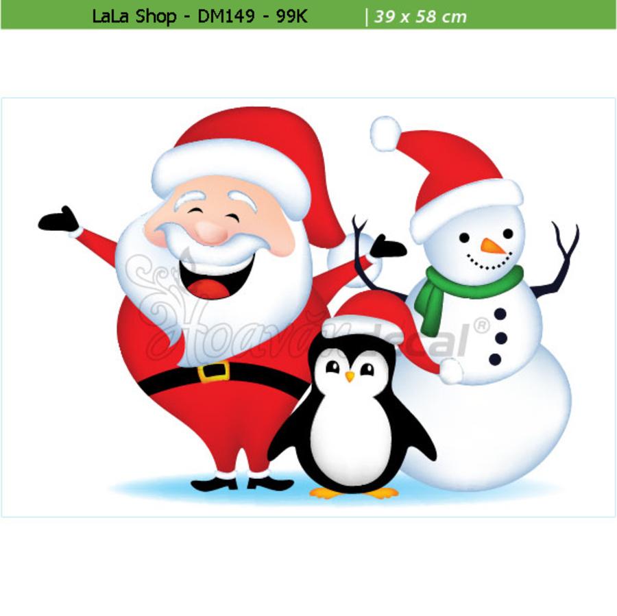 Ông già Noel và những người bạn 02 (nền trắng đục)