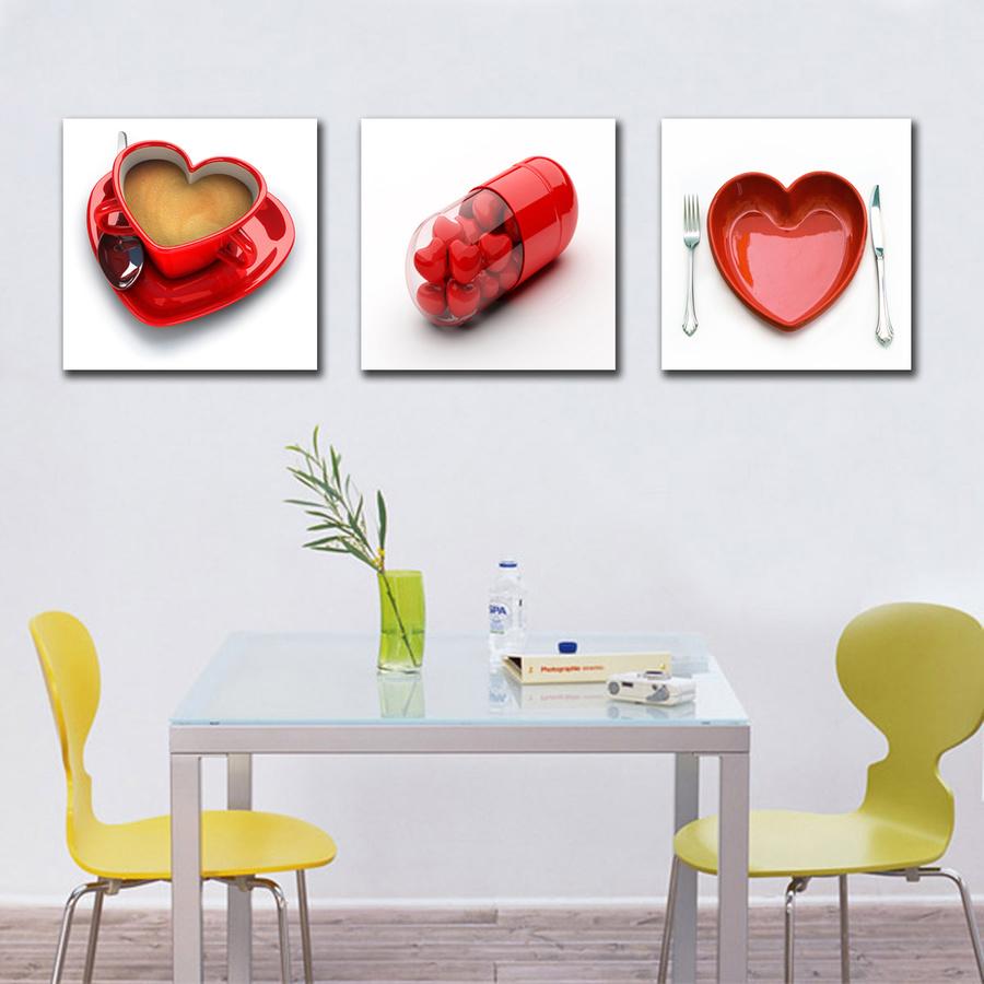 Tranh treo tường cà phê tình yêu
