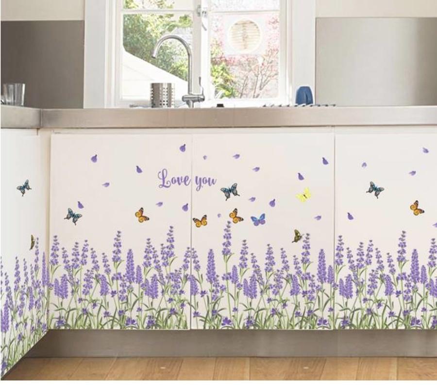 Chân tường hoa lavender 2