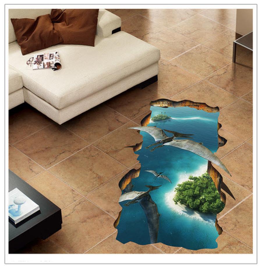 Decal 3D dán tưởng Biển Xanh