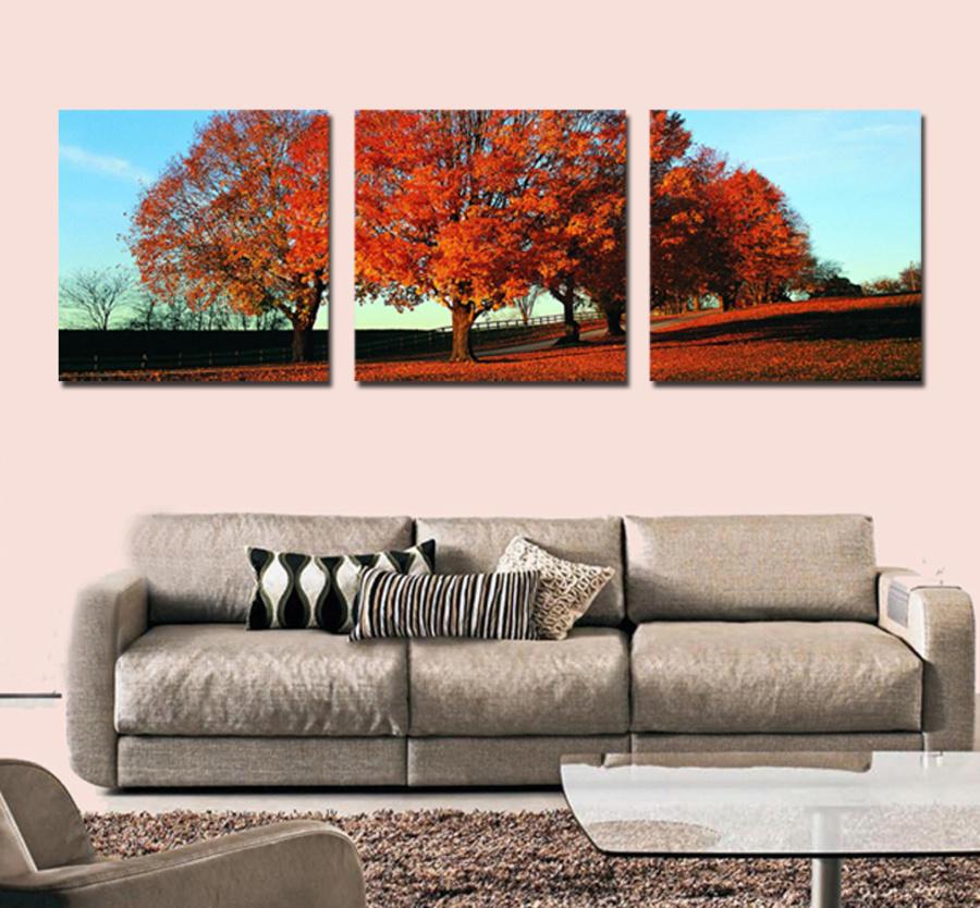 Tranh treo tường cây mùa thu