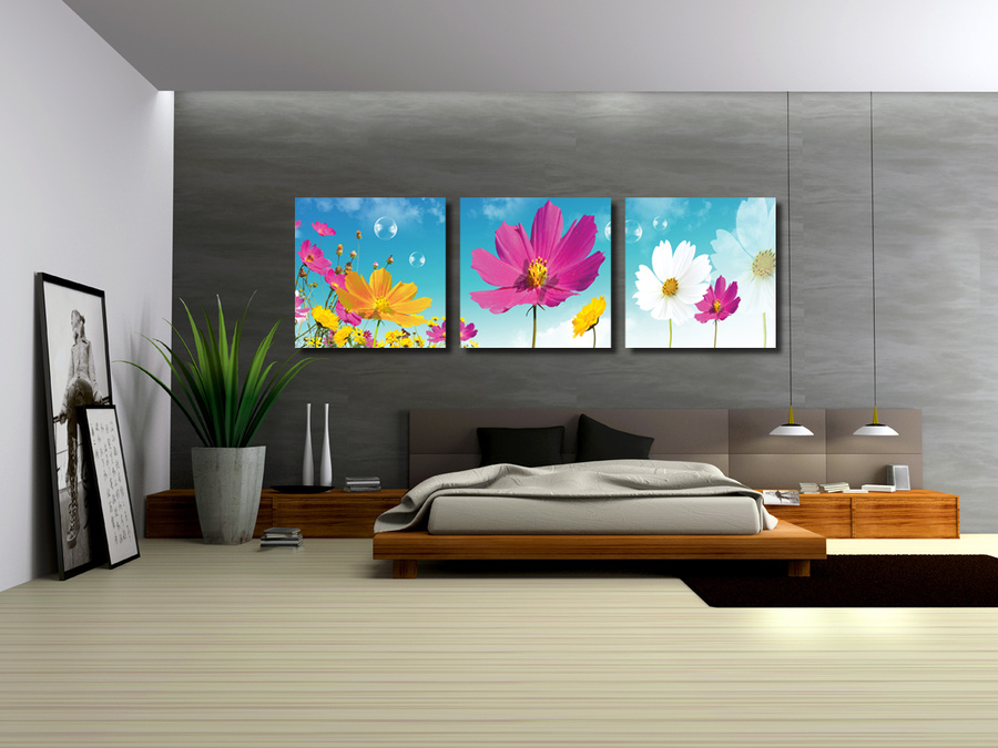 Tranh treo tường hoa sao nhái đa sắc