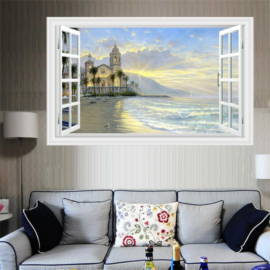Cửa sổ lâu đài biển