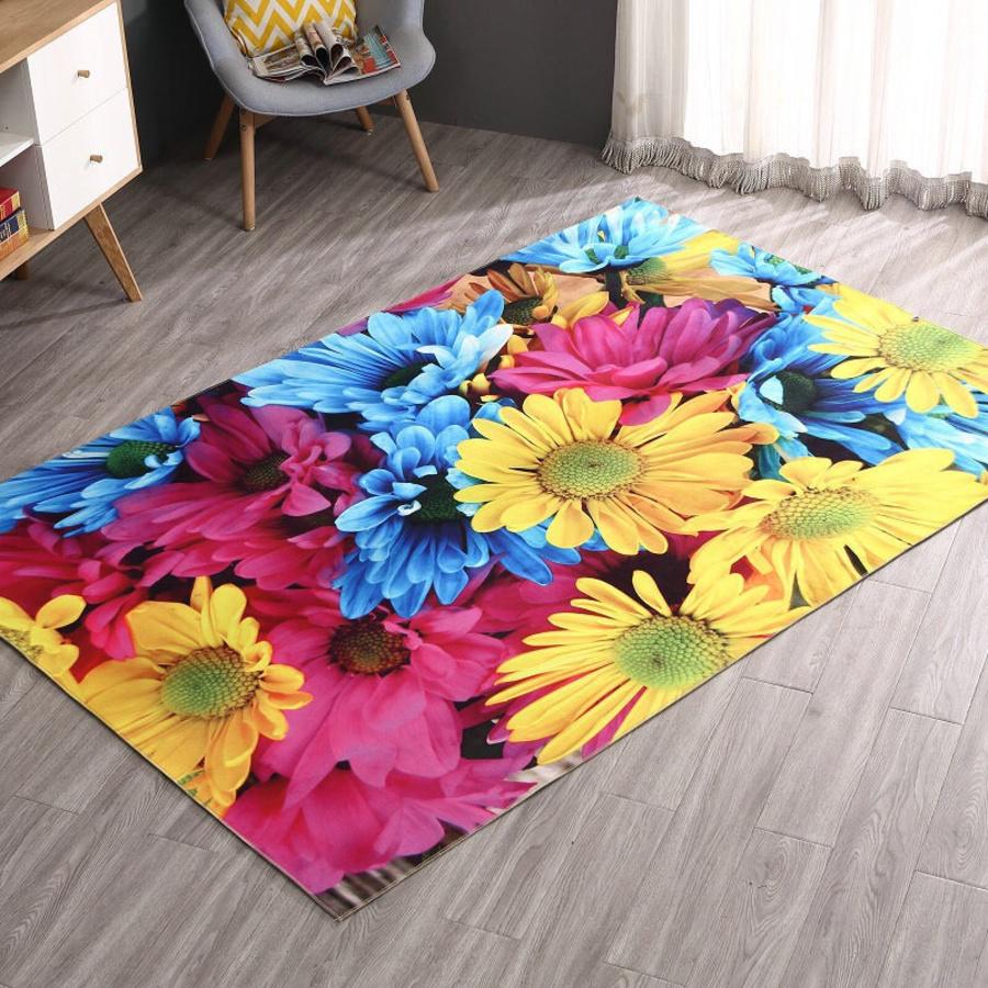 Thảm nhung hoa sắc màu