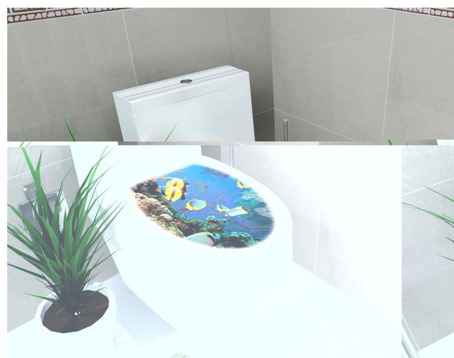 Dán toilet đại dương xanh