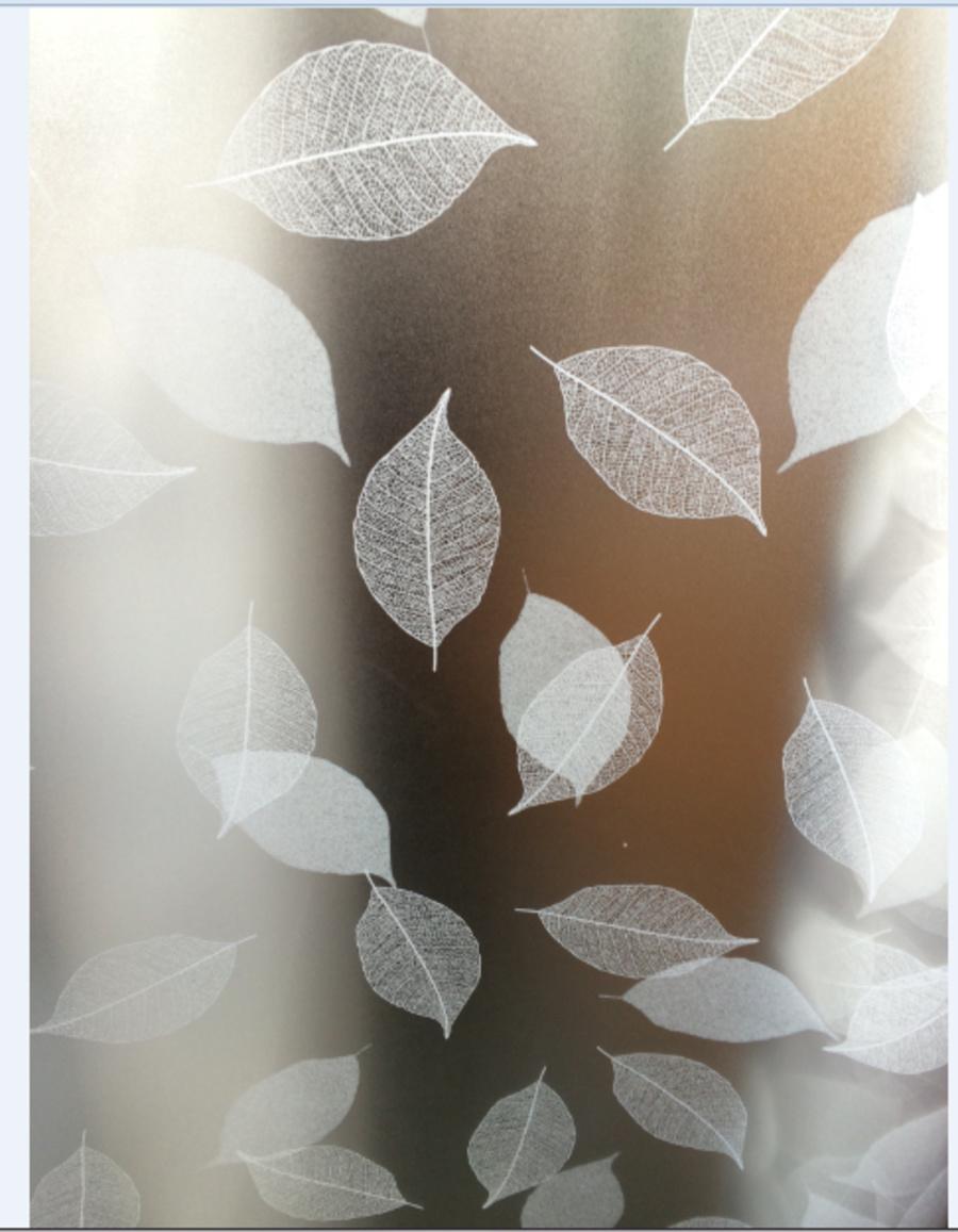 Decal cuộn kính mờ họa tiết lá to (145)