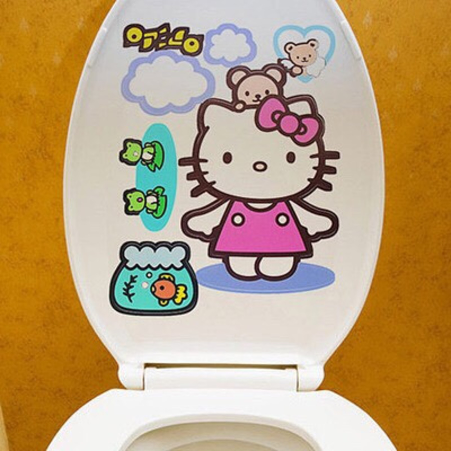 Dán toilet mèo kitty
