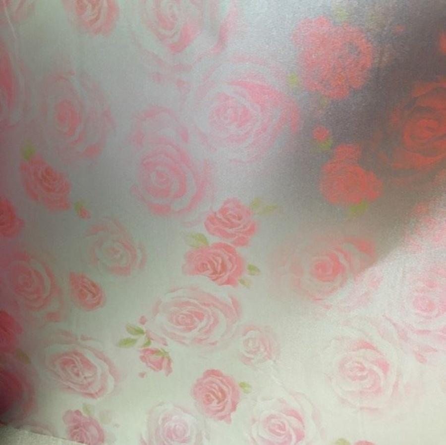 Decal cuộn kính mờ hoa hồng 2 (140)