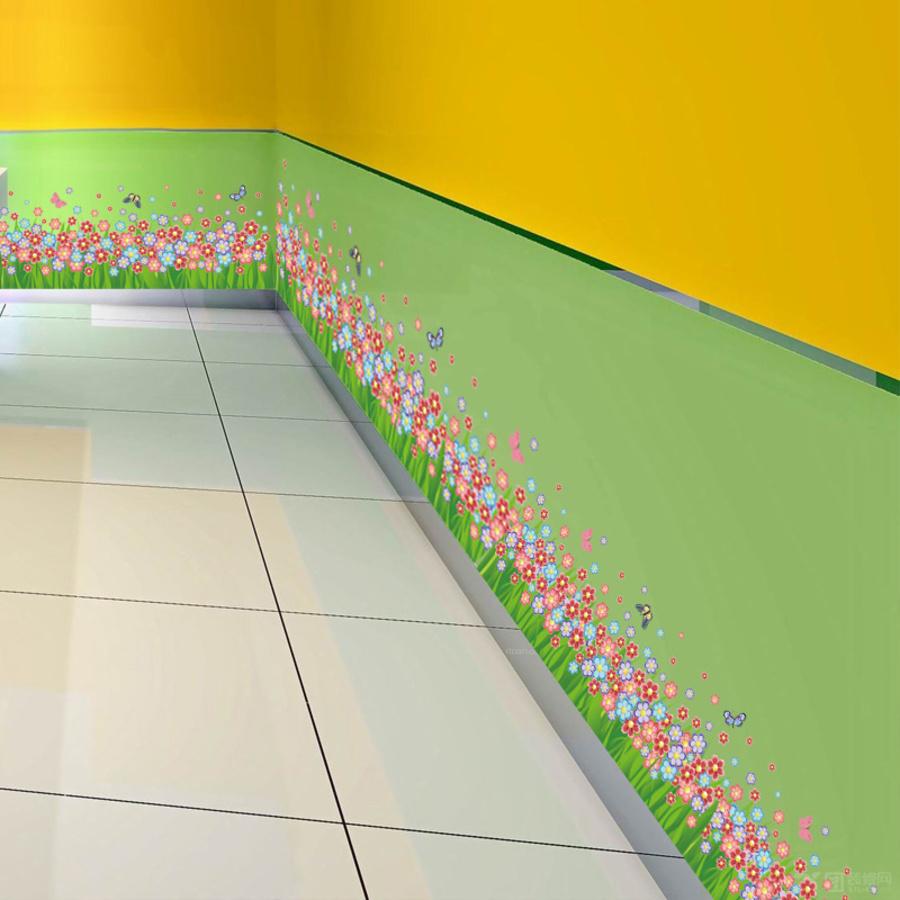 Chân tường hoa 6 cánh đủ màu