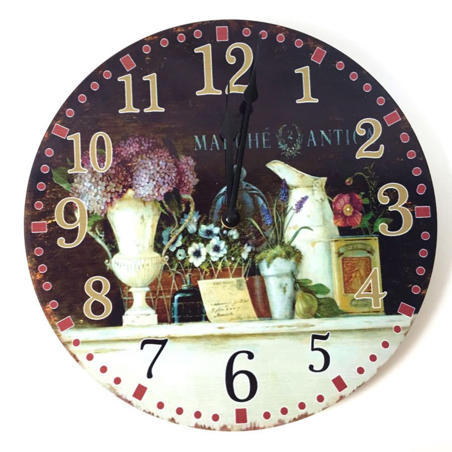 Đồng hồ vitage bình hoa tú cầu