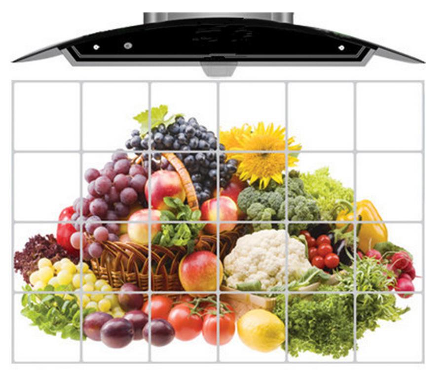 Dán bếp rau củ trái cây size 60x90cm