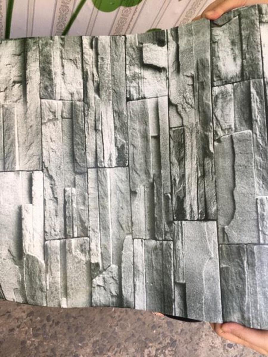 Giấy decal cuộn giả đá xám 5
