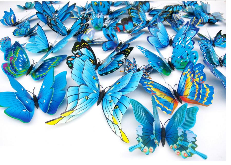 Bộ bướm 3D hai tầng 12 con