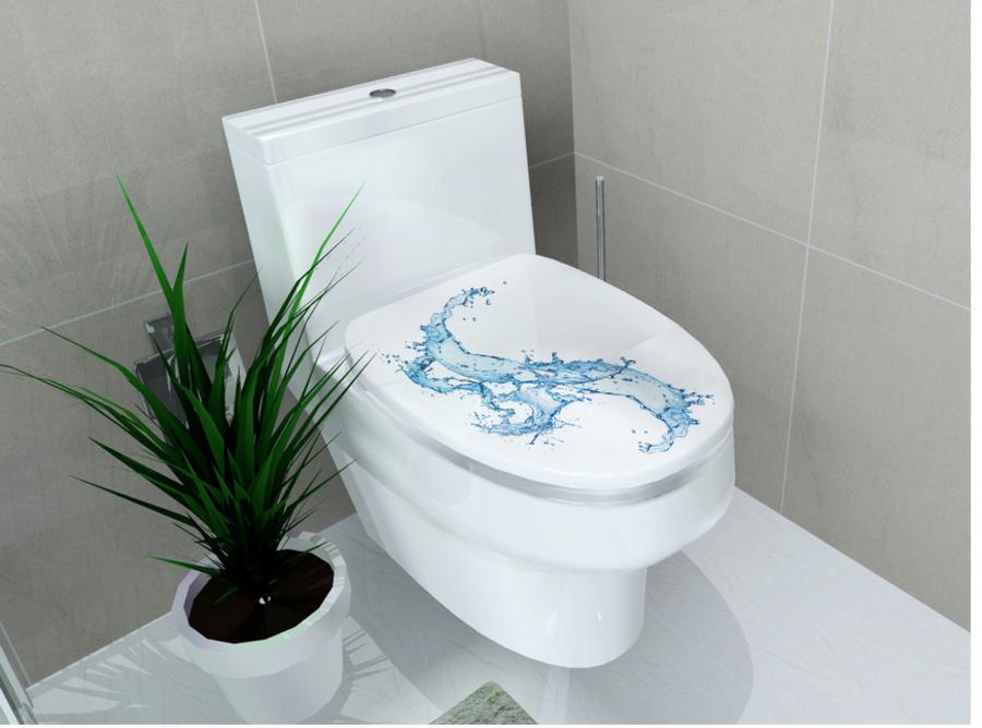 Dán toilet sóng biển