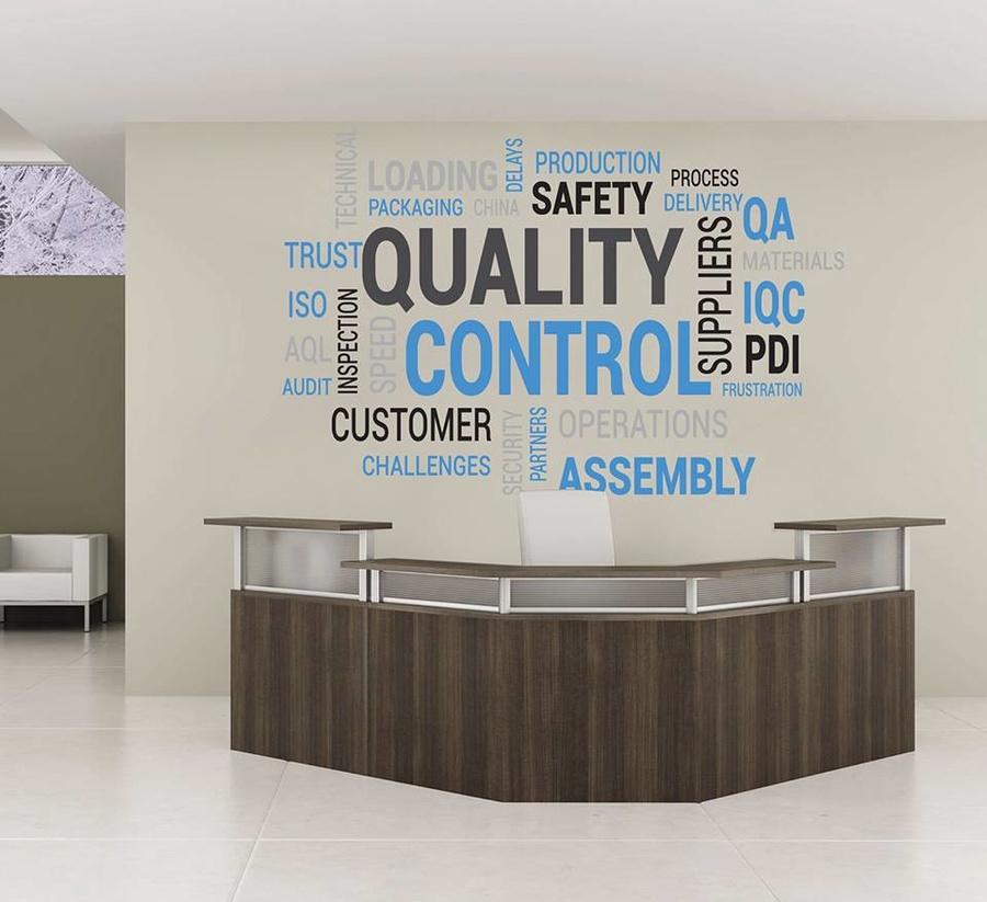 Decal văn phòng Quality Control